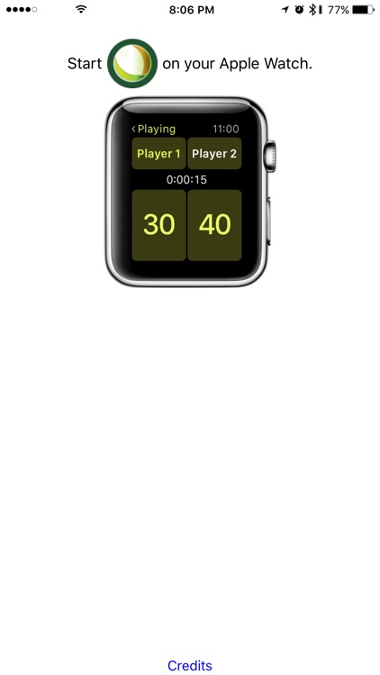Tennis Watchcard