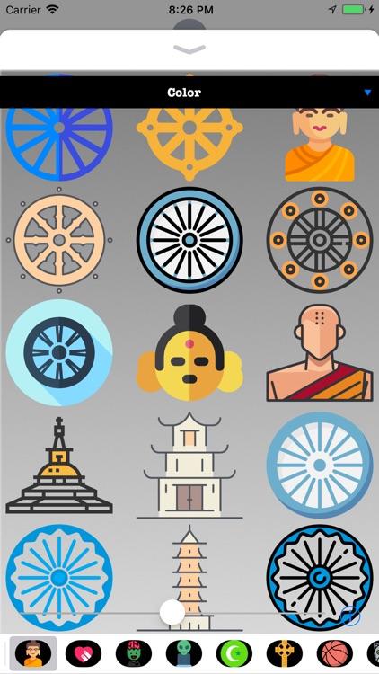 Buddhism Stickers - Emoji