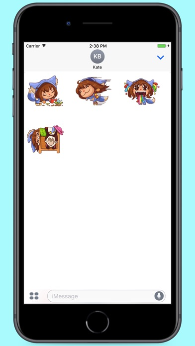 Screenshot for Cutie Jessy Stickers in Colombia App Store