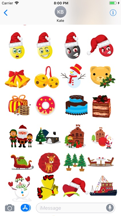 Christmas Holiday 3D Emoji screenshot-3