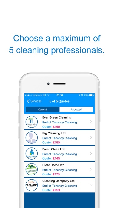 Quote4u - Cleaning On-Demand screenshot three