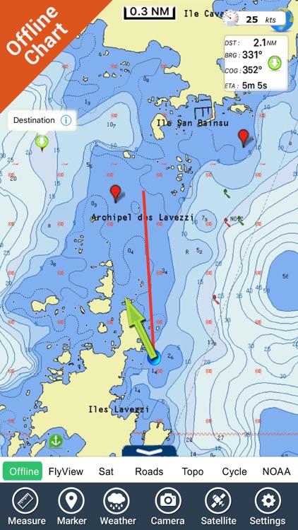 Mediterranean Sea GPS Charts screenshot-4