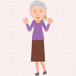 Old woman : Animated Stickers