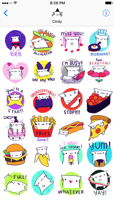 Cindy's Animated Cat Stickers