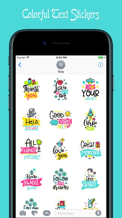 Colorful Quotes Stickers screenshot-3