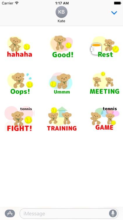 Bear & Tennis Animated Sticker