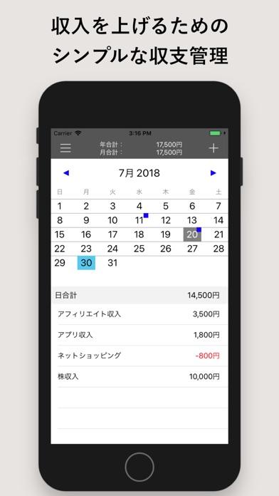 富豪への逆算カレンダー-収入・支出管理でお... screenshot1
