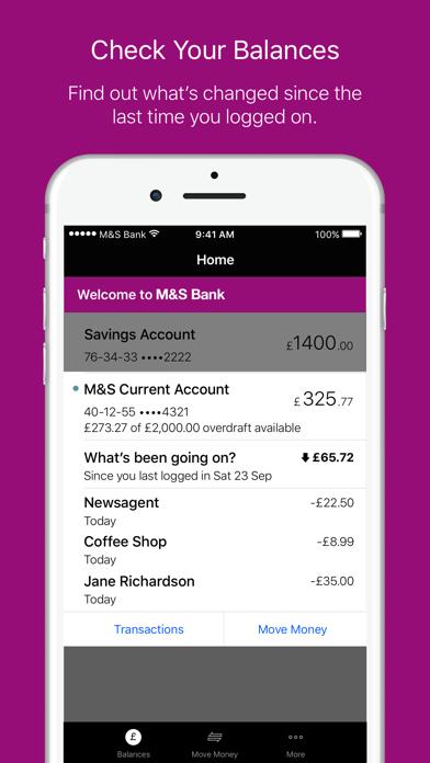 M&S Banking screenshot two