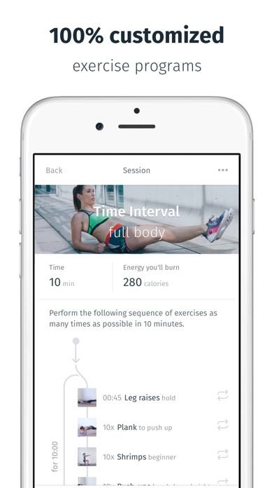 8fit Workouts & meal planner app image