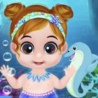 garderie bébé sirène icon