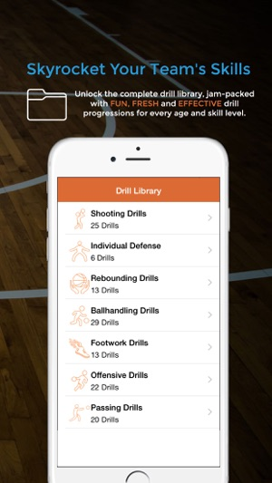 Basketball blueprint on the app store iphone ipad malvernweather Image collections