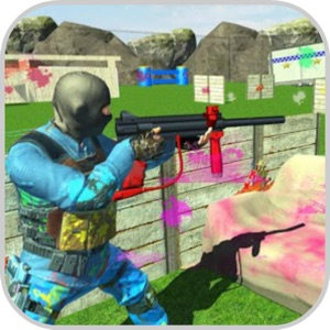 Shooting Paintball Arena