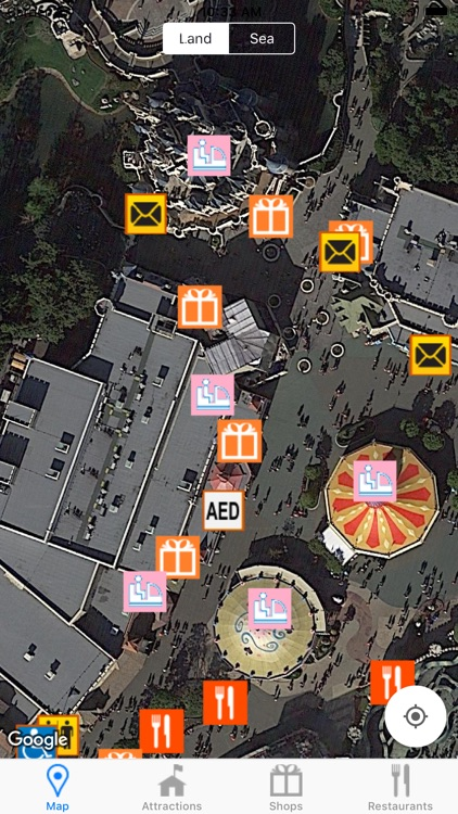 Wait Times + Map for Land