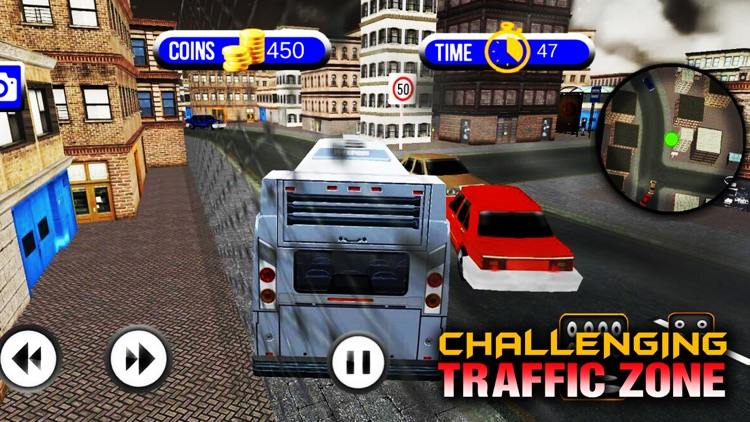 Traffic Coach Bus Simulator in US City Streets screenshot-4