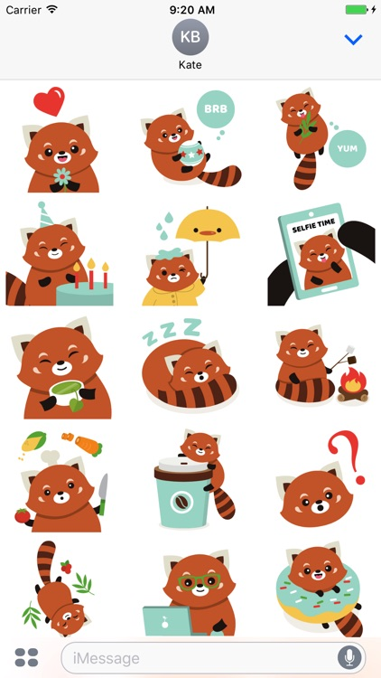 Red Panda Sticker Pack