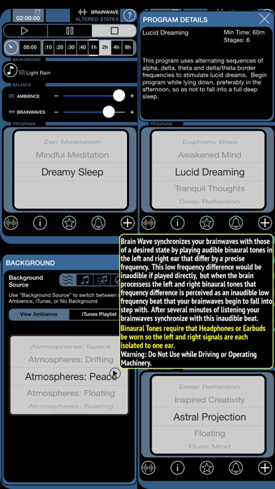 Brainwave Altered States review screenshots