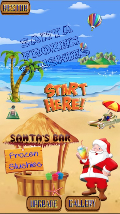 Santa Frozen Slushy Bar