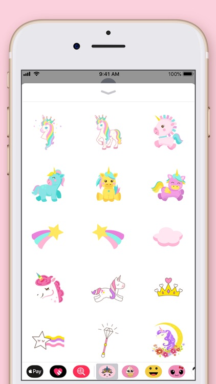 Cute Unicorn Kawaii Stickers screenshot-3