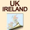 United Kingdom and Ireland. Political map.