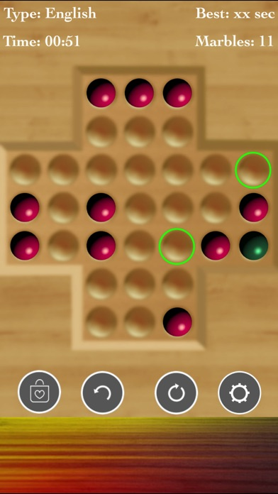 Brainvita Marble Solitaire Fun screenshot 2