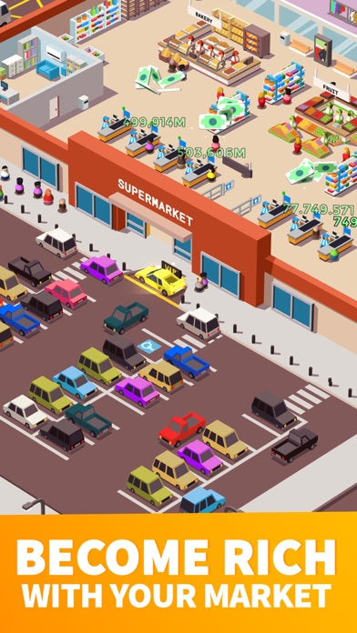 Screenshot for 《Idle Supermarket Tycoon》 - 店員 in Japan App Store