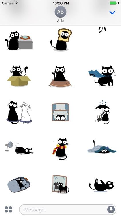 Animated Paranoia Black Cat