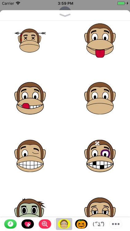 Monkey Emoji Stickers