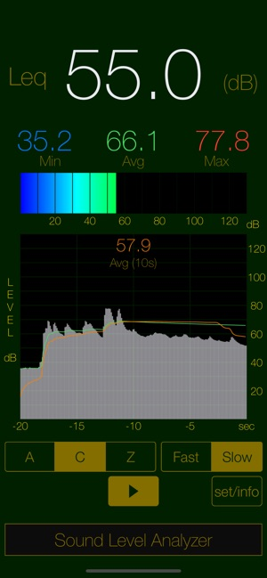 Sound Level Analyzer Lite 4 Decibel Meter