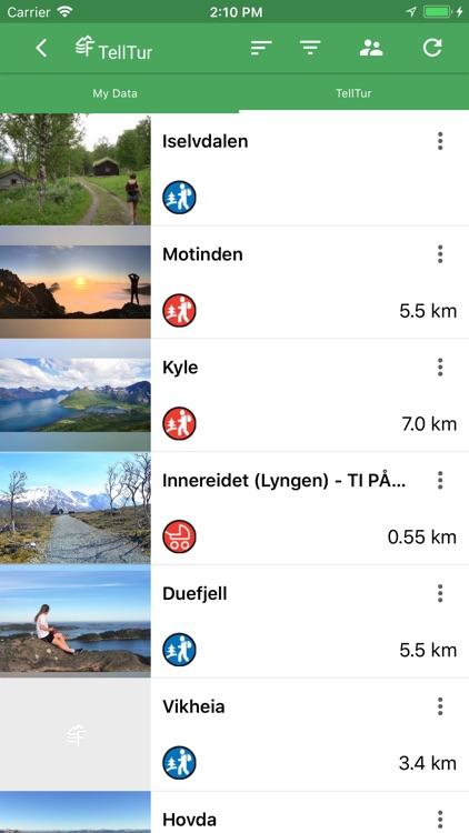 Norgeskart outdoors
