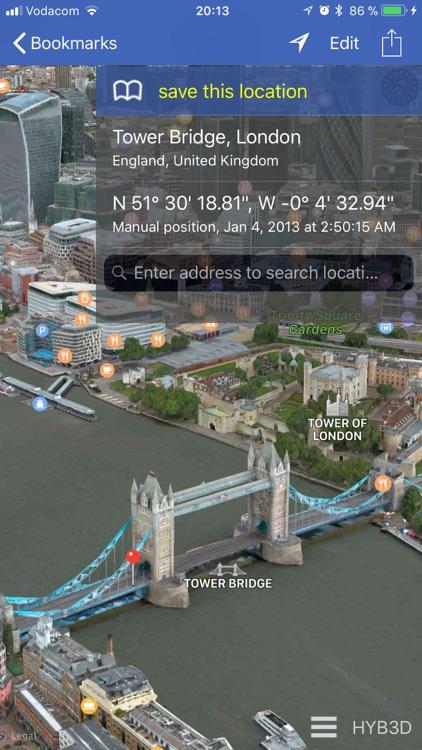 GPS location 3D/flyover