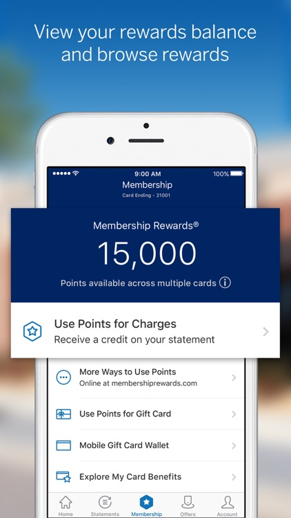 Amex Mobile screenshot-2