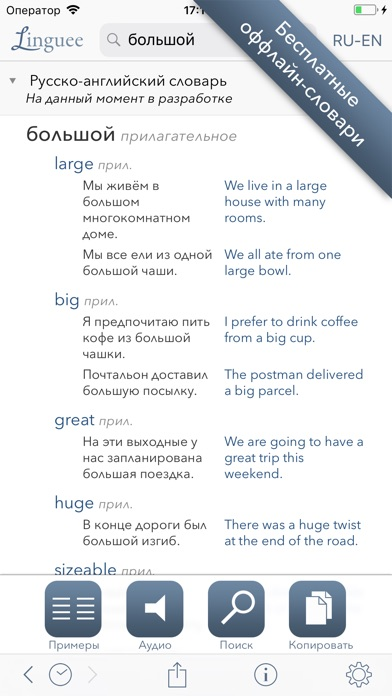 Словарь Linguee Скриншоты4