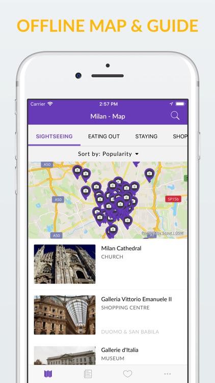 Milan Offline Map & Guide screenshot-0
