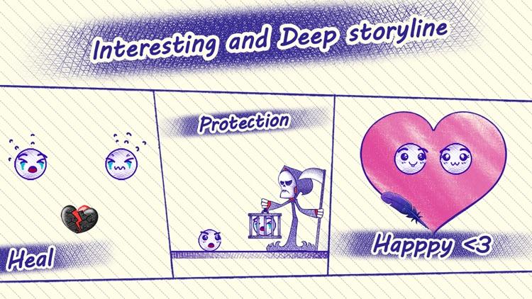 Love Story : Draw Physics Line screenshot-3