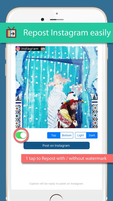 InsTV - autoplay and repost your favorite posts Screenshot on iOS
