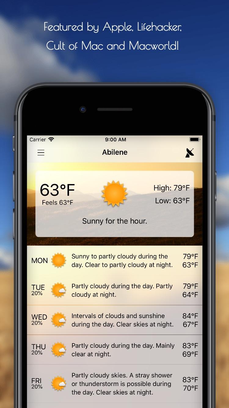 Forecast Bar Screenshot