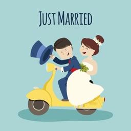 Wedding Couple Emoji's