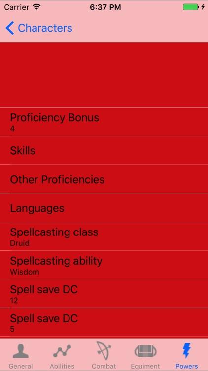 DnD5 Character Sheet - No Ads screenshot-4