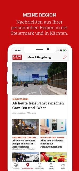 kleine zeitung nachrichten app im app store. Black Bedroom Furniture Sets. Home Design Ideas