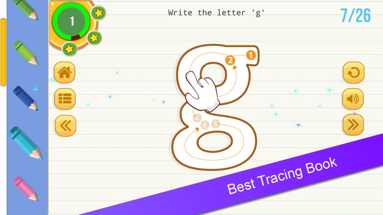 English Tracing Book : Letters