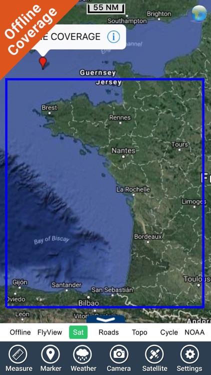 France Atlantic GPS Charts screenshot-4