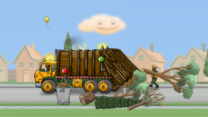 Garbage Truck: Brushy Pick Up screenshot two