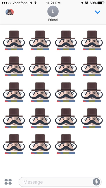 Mr. Mustachio Emoticons!