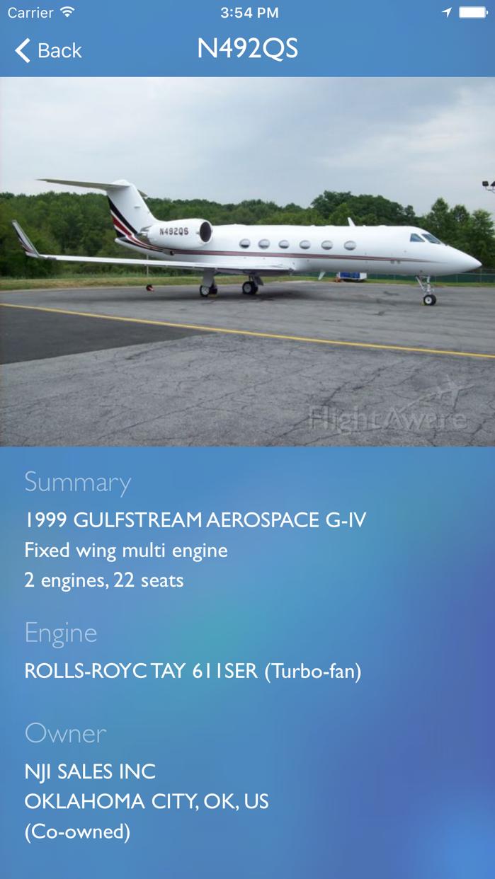 FlightAware Flight Tracker Screenshot