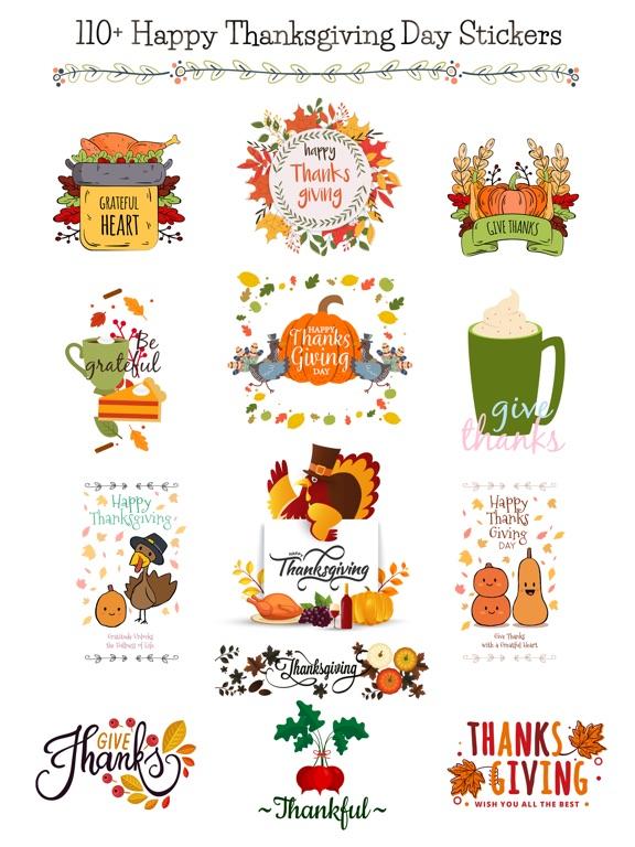 Happy Thanksgiving Day Sticker screenshot 6
