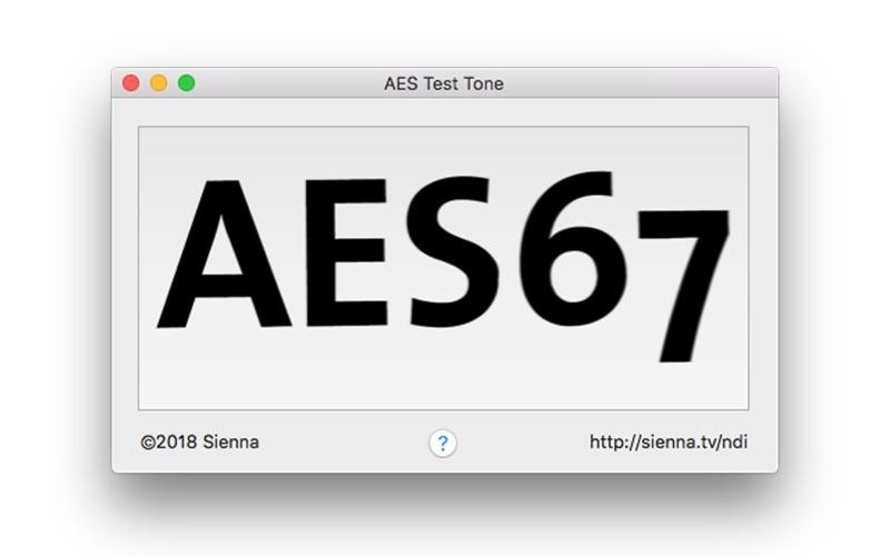 AES67 Test Tone Screenshot