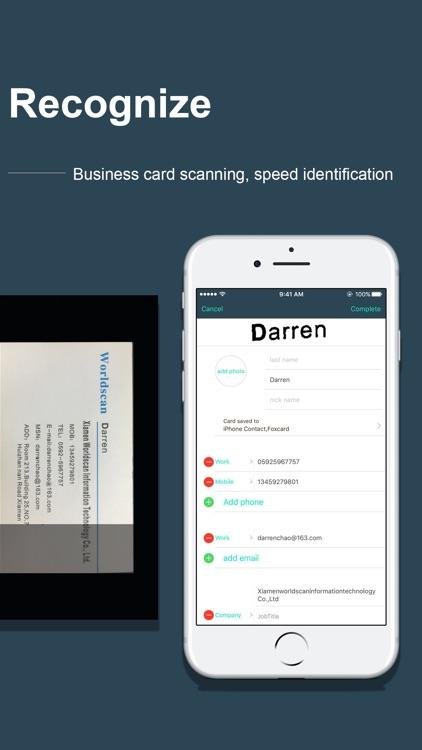 FoxCard pro& visiting card OCR screenshot-4