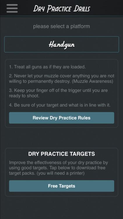 Dry Practice Drills