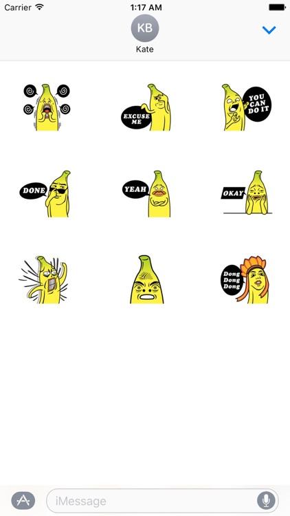 Mr. Banana Emoji Sticker