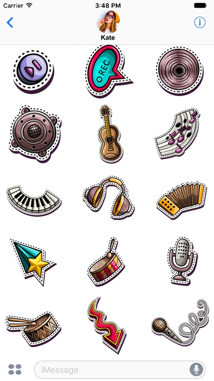 Music Stickers for messages screenshot-3